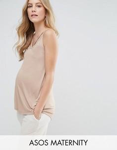 Топ на бретелях ASOS Maternity Ultimate - Розовый