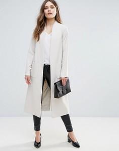 Длинное креповое пальто Helene Berman - Бежевый