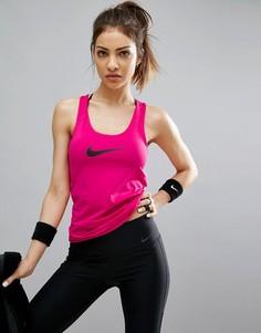 Розовая майка Nike Pro Training - Розовый