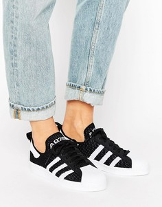 Кроссовки в стиле 80-х Adidas Superstar PK - Черный