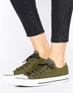 Кеды цвета хаки Converse Chuck Taylor All Star Ox - Зеленый