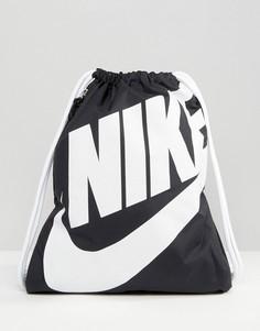 Рюкзак с затягивающимися шнурками Nike Heritage - Черный
