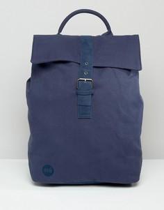 Темно-синий парусиновый рюкзак с клапаном Mi-Pac - Темно-синий
