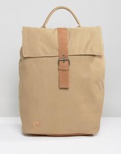 Парусиновый рюкзак песочного цвета с клапаном Mi-Pac Day Pack - Бежевый