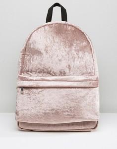 Бархатный рюкзак ASOS - Коричневый