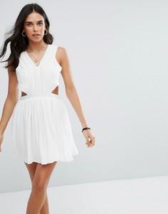 Платье мини с вырезом Raga Everdeen - Белый