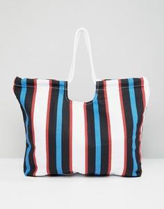 Пляжная сумка в полоску Monki - Мульти