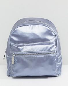 Серый миниатюрный атласный рюкзак LAMODA - Серый