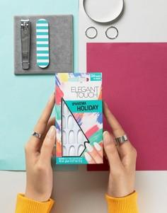 Накладные ногти Elegant Touch Holiday Collection Stiletto Gloss - Белый