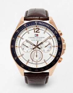 Часы с кожаным ремешком Tommy Hilfiger Luke 1791118 - Коричневый