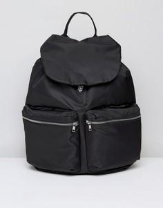 Черный рюкзак с двумя карманами Weekday - Черный