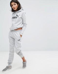 Серые спортивные штаны с логотипом Puma Classic - Серый