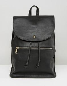 Мягкий рюкзак с молнией ASOS - Черный