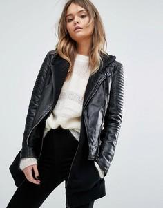 Байкерская куртка Goosecraft - Черный