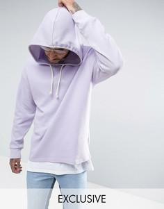 Oversize-худи фиолетового цвета из вафельного трикотажа Puma эксклюзивно для ASOS - Фиолетовый