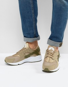 Зеленые кроссовки для бега Nike Huarache 318429-200 - Зеленый