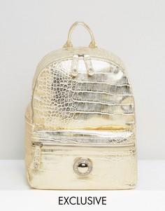 Золотистый рюкзак с оттенком металлик Versace Jeans - Золотой