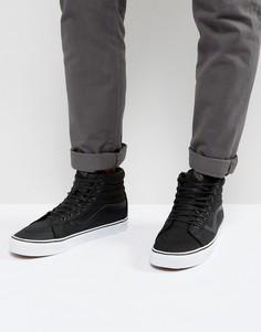 Кожаные премиум-кроссовки Vans Sk8-HI Reissue - Черный