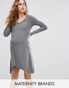 Туника в полоску Isabella Oliver Janey Maternity - Серый