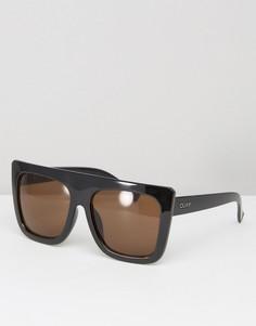 Солнцезащитные очки с плоским верхом Quay Australia Café Racer Shield - Коричневый