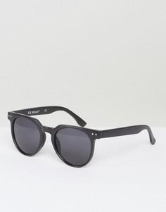 Черные матовые солнцезащитные очки в круглой оправе AJ Morgan Actualize - Черный