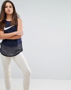 Майка с сетчатыми вставками Nike - Мульти