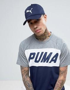 Темно-синяя кепка с большим логотипом Puma - Темно-синий