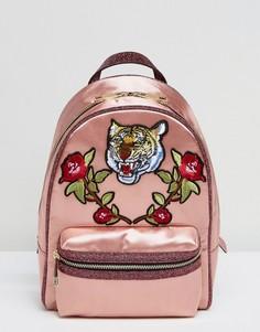 Атласный рюкзак с принтом тигра и нашивками в виде роз ALDO Grawn - Зеленый