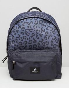 Рюкзак с леопардовым принтом Devote - Черный