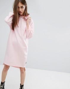 Трикотажное платье с капюшоном Cheap Monday - Бежевый