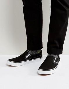 Черные классические кеды‑слипоны Vans VEYEBLK - Черный