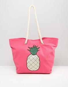 Пляжная сумка с ананасом Chateau - Розовый