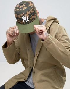Камуфляжная кепка New Era 59Fifty NY Yankees - Зеленый