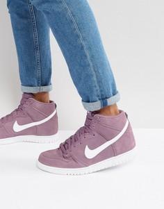 Фиолетовые высокие кроссовки Nike Dunk 904233-500 - Фиолетовый