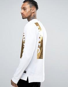 Белый свитшот с логотипом металлик Nike F.C 834299-100 - Белый