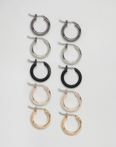 Серьги-кольца (5 шт.) DesignB эксклюзивно для ASOS - Мульти