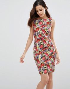 Цельнокройное платье с цветочным принтом Sugarhill Boutique Libby - Мульти