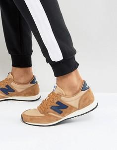 Светло-коричневые замшевые кроссовки New Balance 420 U420PTN - Рыжий