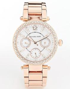 d58a9175d320 Часы цвета розового золота с хронографом Michael Kors Parker MK5616 -  Золотой