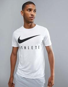 1df4802401e5 Белая футболка с логотипом Nike Training Dry Athlete 739420-100 - Белый