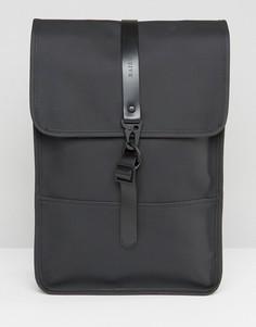 Небольшой черный рюкзак Rains - Черный
