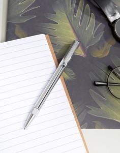 Серебристая шариковая ручка в подарочной упаковке Ted Baker - Серебряный