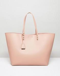 Светло-розовая сумка-тоут с отделкой заклепками Glamorous - Розовый