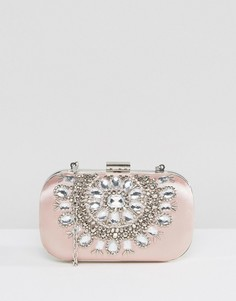 Овальный клатч на жестком каркасе с отделкой True Decadence - Розовый