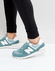 Серые замшевые кроссовки New Balance 574 ML574SEG - Серый