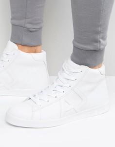 Высокие белые кроссовки Armani Jeans - Белый