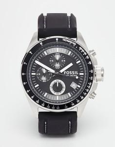 Часы с силиконовым ремешком Fossil Decker CH2573 - Черный