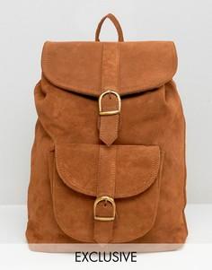 Замшевый рюкзак Reclaimed Vintage - Рыжий