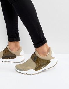 Зеленые кроссовки Nike Sock Dart 819686-200 - Зеленый