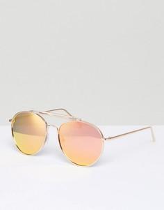 Солнцезащитные очки-авиаторы в золотистой оправе ALDO - Золотой